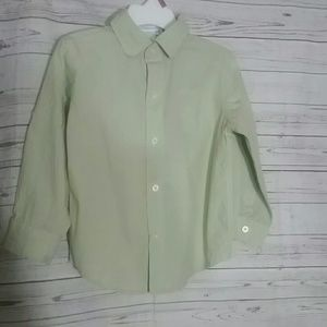 JANIE AND JACK Green Button Down Shirt Size 2T